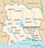 la carte de la Côte d'Ivoire